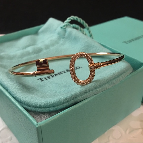 59fd98055 Tiffany & Co. Jewelry | Tco 18k Rose Gold With Diamonds Wire ...